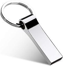 USB Stick, USB-Stick 32GB USB Stick Schlüsselanhänger Wasserdicht Memory Stick Speicherstick (Mit Schlüsselring)