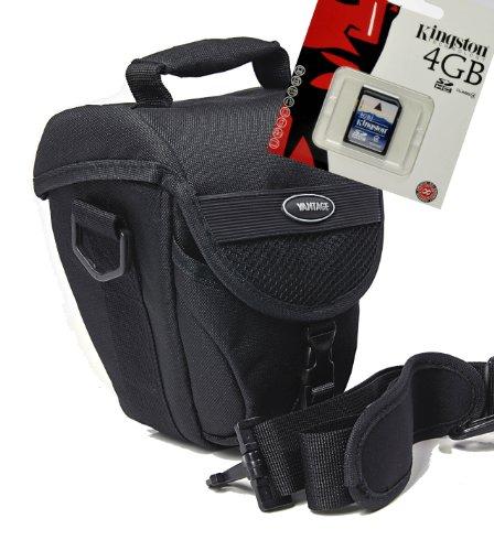 Foto Kamera Tasche COLT VANTAGE Tasche Set mit 4 GB SD Speicherkarte für Nikon D5500 D5300 D5200 D3300 D3200 D3100