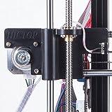 HICTOP 24V 3D Printer Parts Desktop Prusa I3 DIY Kits Aluminum Machine (Black) Bild 1