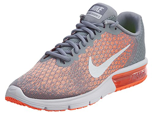 competitive price db45c ddef0 NIKE Air Max Sequent 2 Chaussures de Course Wolf Grey Bright Mango Sunset  Glow
