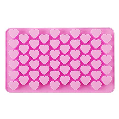 Fablcrew stampo in silicone con 55 spazi a forma di cuore per biscotti e cioccolatini