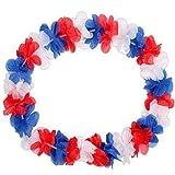 TopTen Hawaiikette Island 45 cm Durchmesser, 100cm lang, Blau, weiß, rot, WM, Fussball, Fanartikel