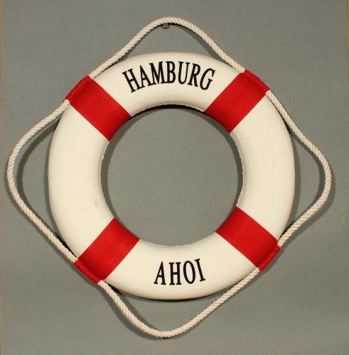 Deko Rettungsring rot/weiß Hamburg Ahoi 35cm