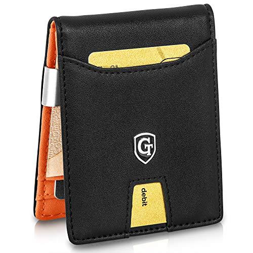 ®  Geldbörse mit Geldklammer - TÜV geprüft - Slim Design - 9 Kartenfächer - RFID Schutz - Kleines Münzfach - Slim Wallet - inklusive Geschenk Box  Design Germany
