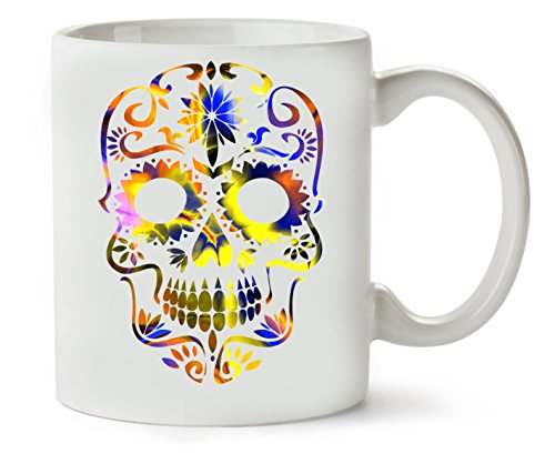 MugWorld Beautiful Death Tripy Acid Skull Taza para Café Y Té