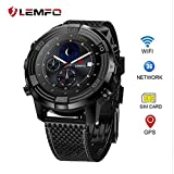 3 G Smart Watch Phone, Generic lemfo LEM6 – IIP67 Wasserdicht GPS-Verfolger Quad Core 1.0 GHz 1 GB +