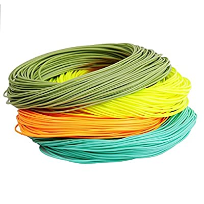 Maxcatch Weight Forward Floating Fly Line 100ft Yellow, Orange, Teal Blue, Moss Green (1F-10F) by Maxcatch
