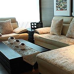 JiaQi Plüschsofa slipcover,Sofa abdeckungen für ledersofa,Möbel-Protector für 1 2 3 4 Kissen Sofa Sofabezug arm Couch-Protector für Hund Universal-sitzer-Creme Farben 60x120cm(24x47inch)