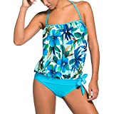 Donne Retro Bandeau Due pezzi Tankini Set Costumi da bagno, Donna Push-Up Beachwear Set Elastic Swimwear Swimsuit Spiaggia Estate S-XXXL junkai