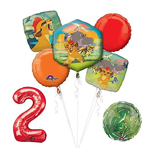 Lion Guard Lion King 2nd Birthday Party Balloon Decoration supplies by Mayflower Products