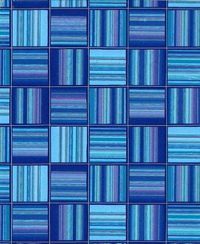 Geschenkpapier-Rolle, 50 cm, 2m, Motiv: Blaugestreifte
