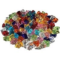 100pieza 15mm reluciente Multicolor Decoración Hielo Diamantes Brillantes brillantes acrílico Piedras Manualidades piedras decorativas gltzer brillantes cristales decorativos para decorar de Crystal King