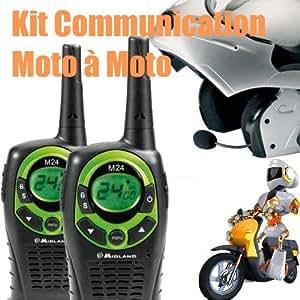 Midland GMK2RTWMJ Kit communication moto à moto via Talkie-Walkie Version casques ouverts