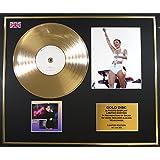 Miley Cyrus/marco Disco de Oro/Vinilo, fotos y libro/Edición limitada/certificado de Authenticite/BANGERZ