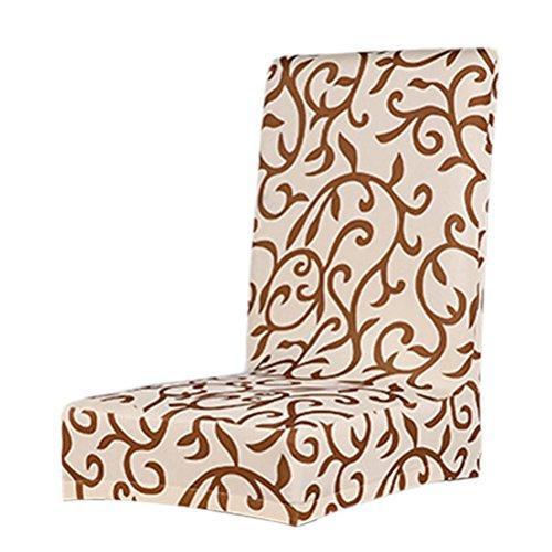 ULTNICE Cubierta de la silla elástica desmontable funda de asiento Protector muebles escudo café