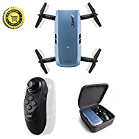 Aorula ?New Version? Foldable Selfy Camera Copter Drone, Mini RC Selfie Air Pocket Quadcopter FPV, JJRC H47 ELFIE+ With Gravity Sensor Mode 720P WiFi Camera For Teens Adults Beginners.(Blue
