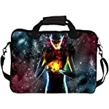 """Snoogg Fire Women 13"""" 13.5"""" 13.6"""" Inch Laptop Notebook SlipCase With Shoulder Strap Handle Sleeve Soft Case With Shoulder Strap Handle Carrying Case With Shoulder Strap Handle For Macbook Pro Acer Asus Dell Hp Sony Toshiba"""