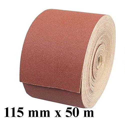 1 x Rolle Schleifpapier Kunstharz Schleifmittel Korn 180 Länge 50 m / Breite 115 mm