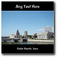 America USA Cedar Rapids, Iowa-Targa da parete quadrato in acrilico