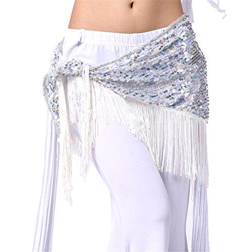 Tanzen Accessories Kostüm Bauchtanz Hüfttuch Rock Dreieck Sequins Quasten Wickeln (Billigen Indischen Halloween Kostüme)