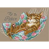 Cross Stitch Kit Cats Try to Relax 14 Count