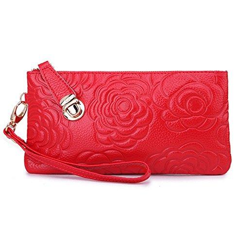 Eysee, Poschette giorno donna Rosso blu 20cm*11cm*1.5cm rosso