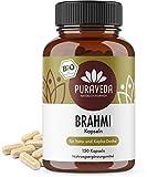 Bio Brahmi Kapseln (150 Stück) - aus der Ayurveda Lehre - KEIN Magnesiumstearat - 100% BIO - Qualität von PURAVEDA