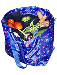 Multi-Purpose Vegetable/Shopping/ Grocery Bag With Multi Pocket And Zip Closure