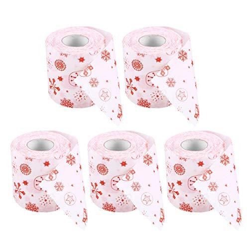 LIOOBO Weihnachtstoilettenpapierweihnachtsmann-Toilettenpapierdruck-Rollenpapier für Weihnachtsfestweihnachtsfeiertagsdekorationen