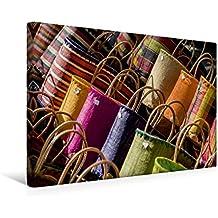 Calvendo Premium Textil-Leinwand 45 cm x 30 cm Quer, Bunte Körbe | Wandbild, Bild auf Keilrahmen, Fertigbild auf Echter Leinwand, Leinwanddruck Orte Orte