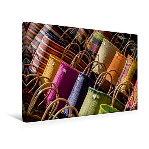 Premium Textil-Leinwand 45 cm x 30 cm quer, Bunte Körbe | Wandbild, Bild auf Keilrahmen, Fertigbild auf echter Leinwand, Leinwanddruck (CALVENDO Orte) Lebensmittel Körbe Für Den Urlaub