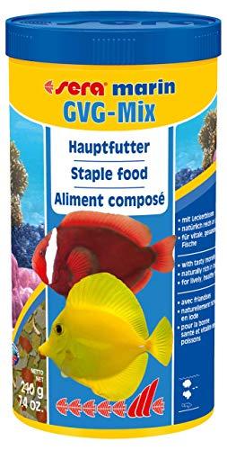 sera 00370 marin GVG-mix 1000 ml - Flockenfutter mit ganzen Futtertieren als Leckerbissen Bereich Marine