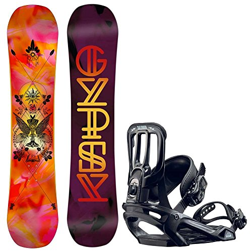 Kinder Freestyle Snowboard Set Salomon Gypsy Grom 138 +Pact 2017 Girls Snowboard Set