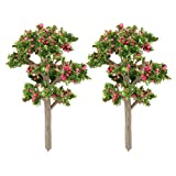 sourcingmap® Familie Dekor Harz DIY Handwerk Künstliche Pflanze Baum Bonsai Landschaft 2Stück