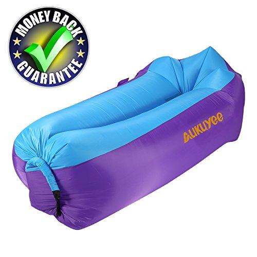 blau Lassen Sie Unsere Waren In Die Welt Gehen Fein Iregro Aufblasbares Sofa New Version Tragbarer Sitzsack Wasserdichtes Auf
