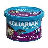 AQUARIAN Complete Nutrition, Aquarium Tropical Fish Food Flakes, 50g Container