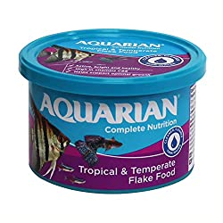 AQUARIAN Complete Nutrition, Aquarium Tropical Fish Food Flakes, 50g Container