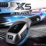 DIGITRENDS X5 Bluetooth Car Kit MP3 Player with FM Transmitter Adapter, Charger