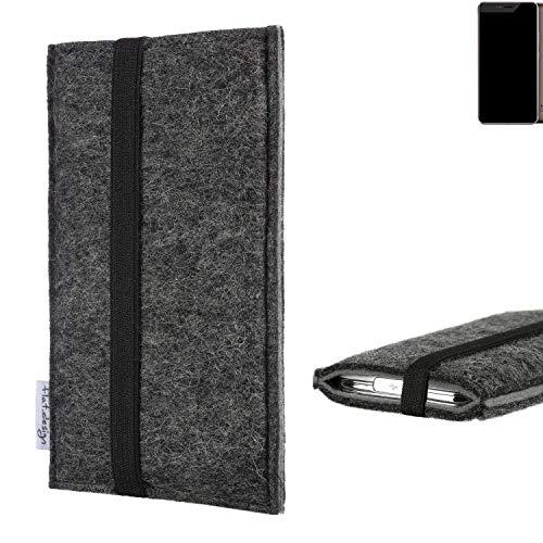 flat.design Handyhülle Lagoa für Allview X4 Xtreme | Farbe: anthrazit/grau | Smartphone-Tasche aus Filz | Handy Schutzhülle| Handytasche Made in Germany