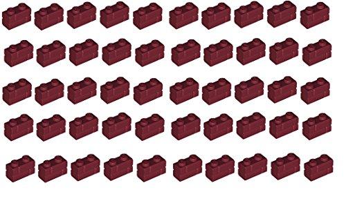 lego-pack-of-50-dark-red-masonry-bricks-1x2