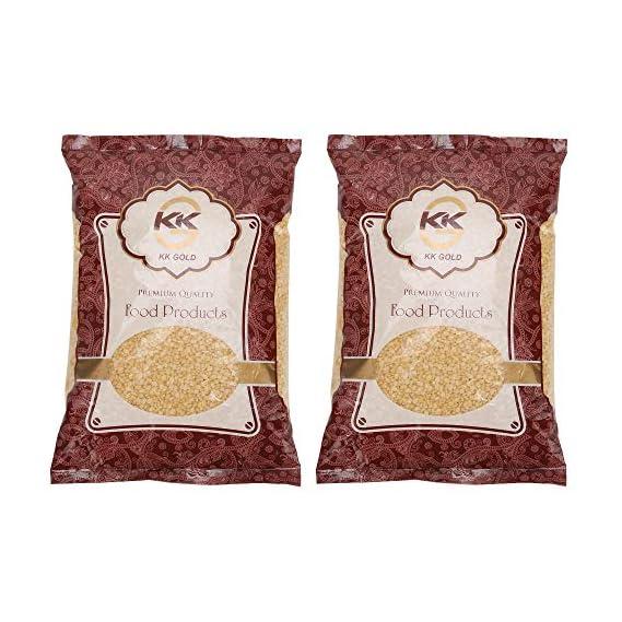 K K GOLD Premium Quality Moong Daal Split, 500 Gram, Pack of 2