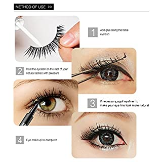 5Piar3D Lashes Natural Thick False Wimpern Wimpern Makeup Extensions