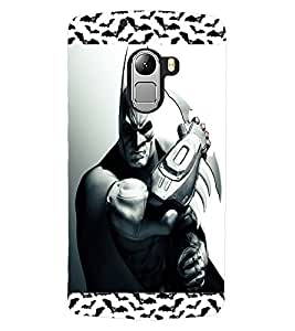 ColourCraft Dark Fighter Design Back Case Cover for LENOVO A7010