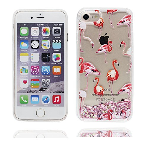 """iPhone 6S Coque, Skin Hard Clear étui iPhone 6 / 6S, Design Glitter Bling Sparkles Shinny Flowing iPhone 6 Case Shell 4.7"""", Apple iPhone 6S Cover 4.7"""", (Multiflora Rose) résistant aux chocs # 3"""