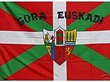 Grand Bandera de Gora Euskadi 150*90 cm Satén Durabol .