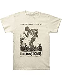 Rolling Stones - - Vintage Tour Poster 30 / 1 Enzyme Washed T-Shirt in Natural