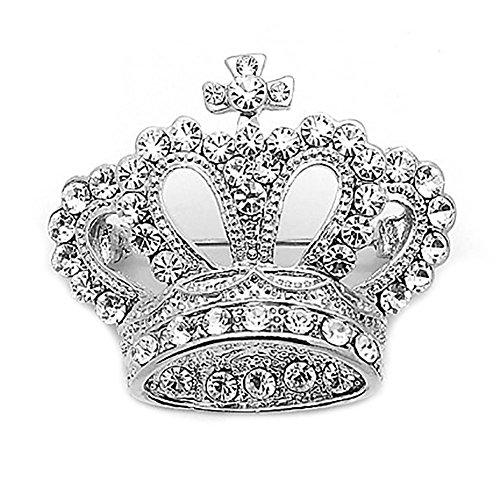 Elegante Frauen Krone geformt Prinzessin Brosche Kleid Stift (Silber) (Billig Prinzessin Kleider)