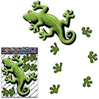 Autoadesivo dell'automobile animale verde di Gecko per i camion di automobile di camion - ST00031GR_SML - JAS Adesivi