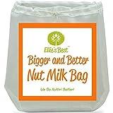 Ellie's Best Nussmilch-Beutel In Profi-Qualität-Handelsüblich – Wiederverwendbarer Mandelmilch-Beutel Und Allzweckfilter – Feinmaschiges Nylon-Käsetuch Und Kaffeefilter Zur Kaltzubereitung