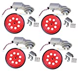 3-9v Waterproof Arduino Compatible DC BO Motors with Big Wheel clamp Set (Pack of 4)